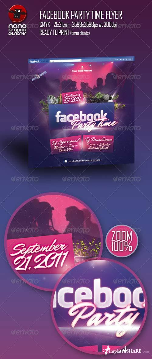 GraphicRiver Facebook Party Time Flyer