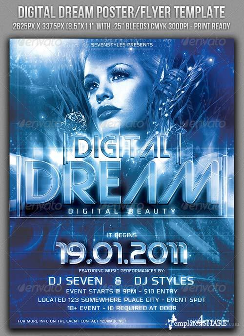 GraphicRiver Digital Dream Poster/Flyer Template