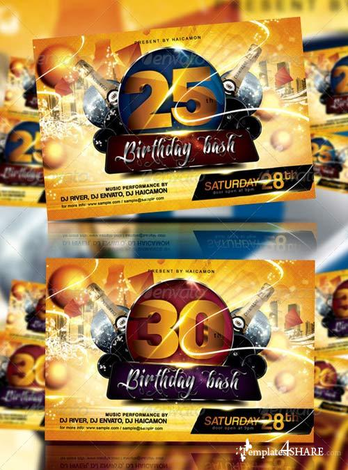 GraphicRiver Birthday Bash Party Flyer & Invitation