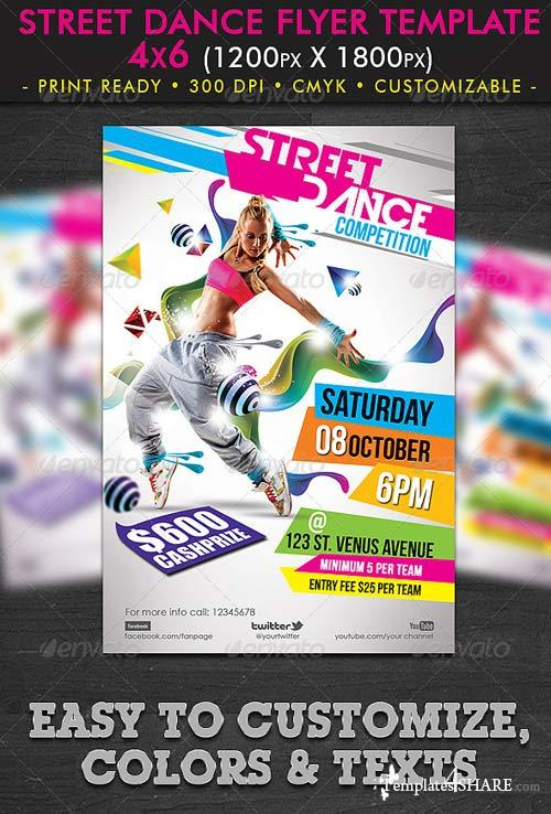 Dance Flyer Template » Templates4share.com - Free Web Templates