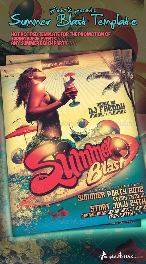 GraphicRiver Summer Blast Flyer Template