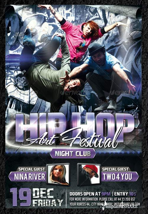GraphicRiver Hip Hop Party Flyer Template