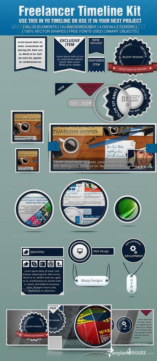 GraphicRiver Freelancer Timeline Kit