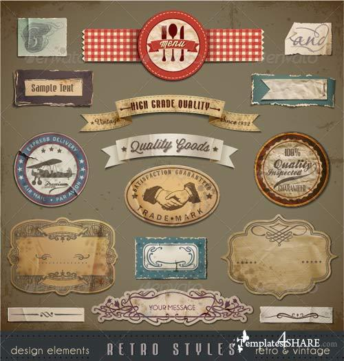 GraphicRiver Vintage And Retro Design Elements