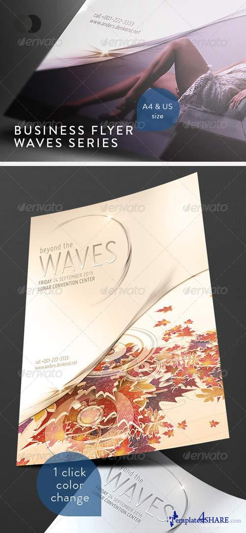 GraphicRiver Business Flyer - Waves Series