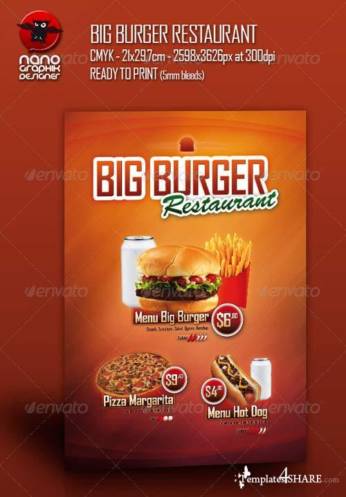 GraphicRiver Big Burger Restaurant