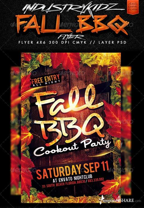 GraphicRiver Fall BBQ Flyer Template