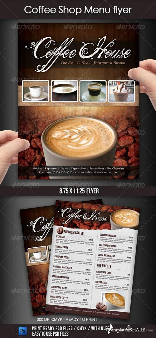 GraphicRiver Coffee Shop Menu Flyer