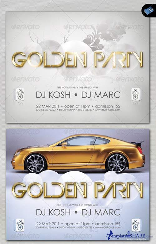 GraphicRiver Music & Event Flyer - Golden Party