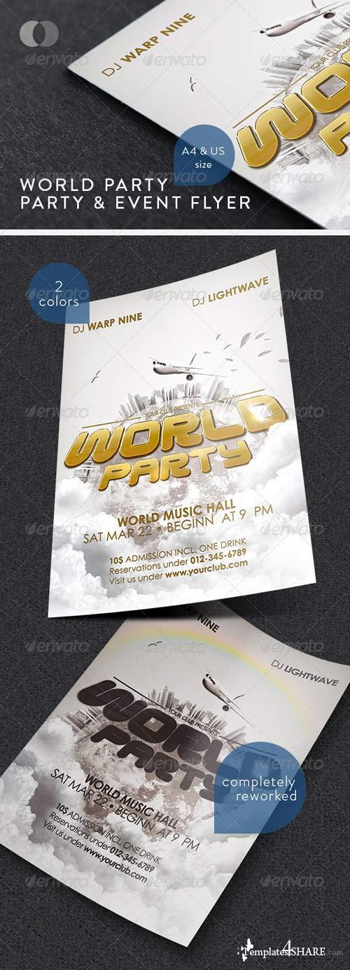 GraphicRiver Music & Event Flyer - World Party