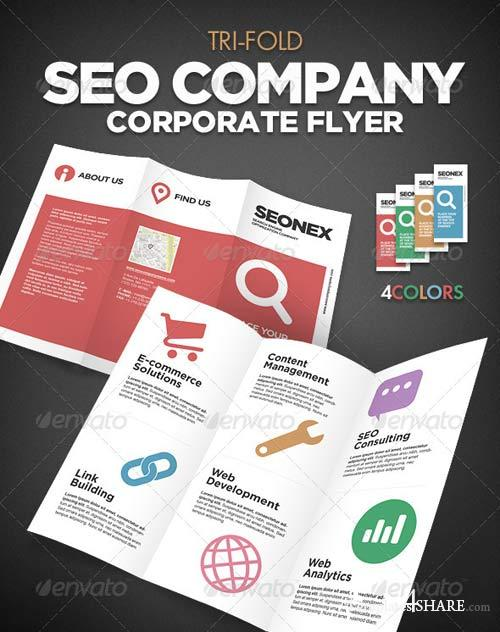 GraphicRiver Tri Fold SEO Flayer