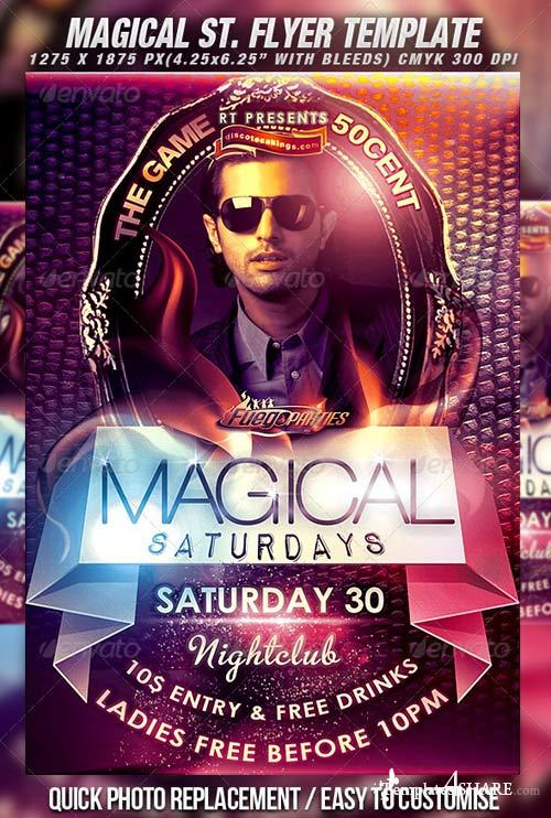 GraphicRiver Magical Saturdays Flyer Template Vol.2