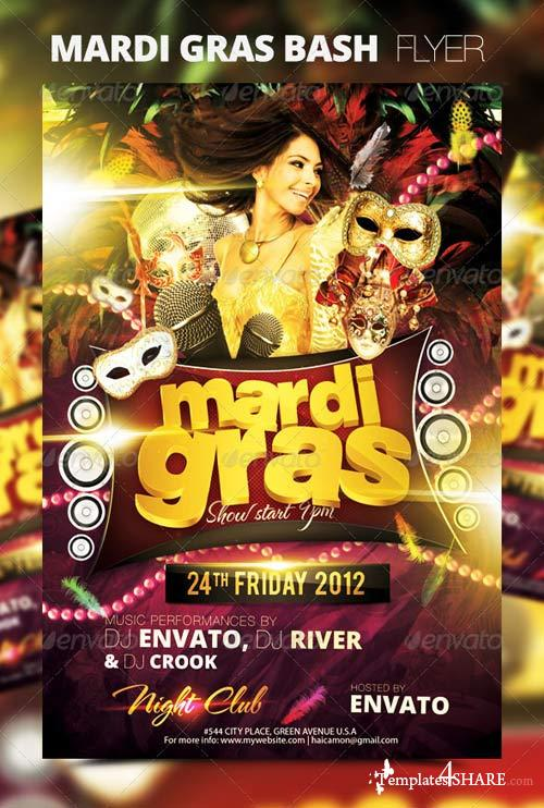 GraphicRiver Mardi Gras Bash Flyer Vol_1