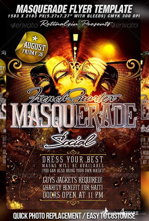 GraphicRiver Masquerade Flyer Template