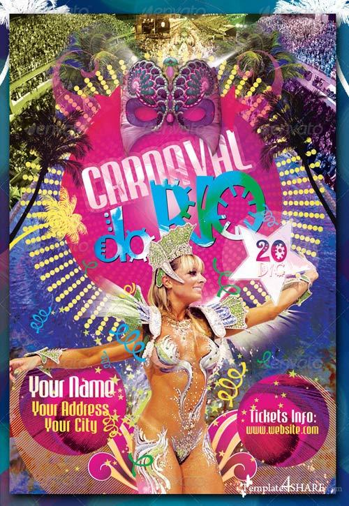 GraphicRiver Carnaval Do Rio Flyer Template