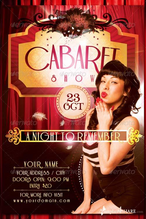 GraphicRiver Cabaret Show Flyer Template