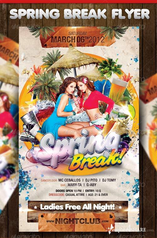 GraphicRiver Spring Break Party Flyer 1611193