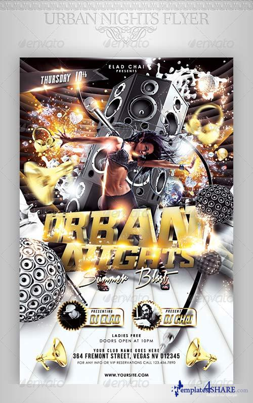 GraphicRiver Urban Nights Flyer Template