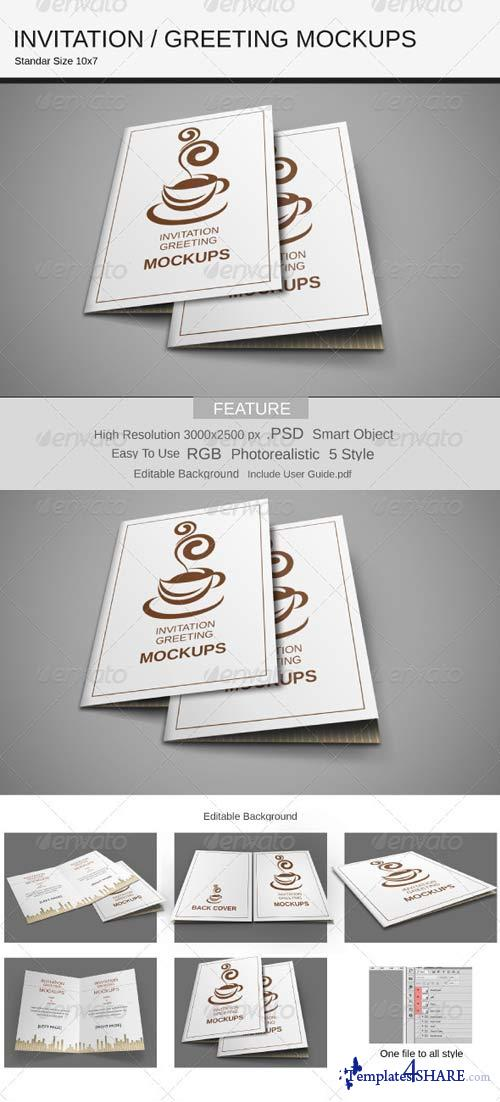 GraphicRiver Invitation / Greeting Mockups