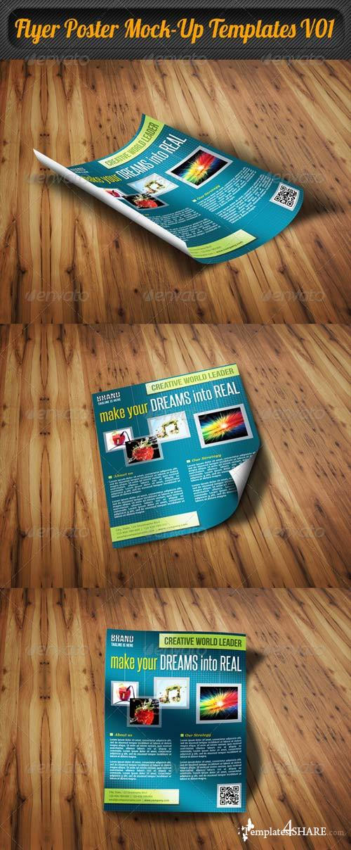 GraphicRiver Flyer Poster Mock-Up Templates V01