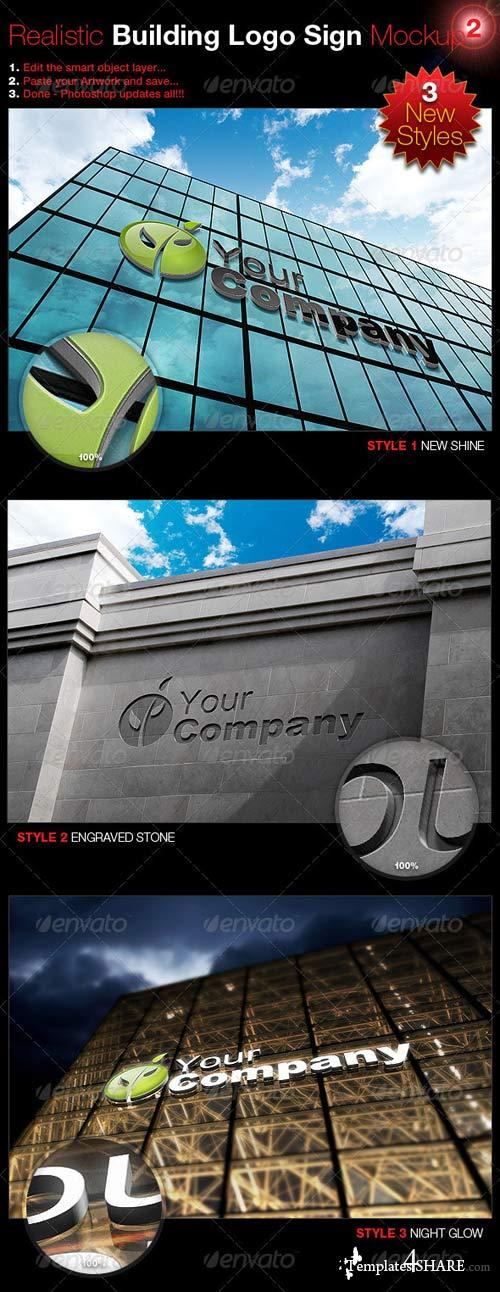GraphicRiver Realistic Building Logo Sign Mock-Up 2