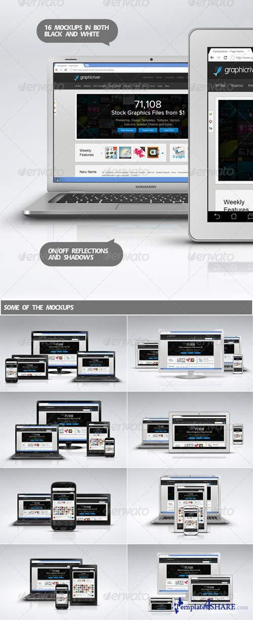 GraphicRiver Chrome Devices - Responsive Web Mockups