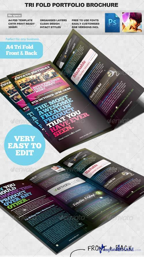 GraphicRiver Product / Portfolio A4 Three Fold Brochure Layout