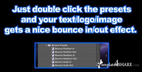 Bounce Presets - After Effects Project (Videohive)