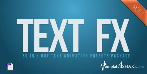 Text Fx Vol.1 - After Effects Project (Videohive)