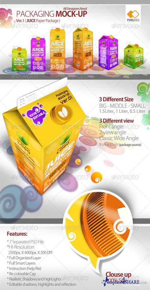 GraphicRiver Packaging Mock-up (Juice Paper Package)Ver.01