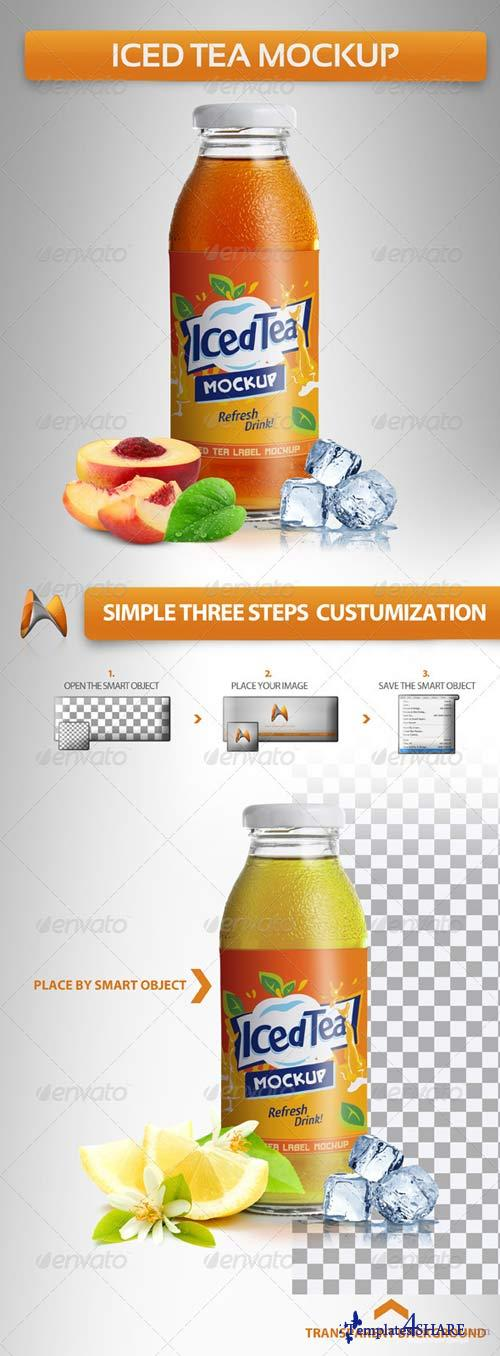 GraphicRiver Iced Tea Mockup