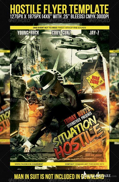 GraphicRiver Hostile Flyer Template