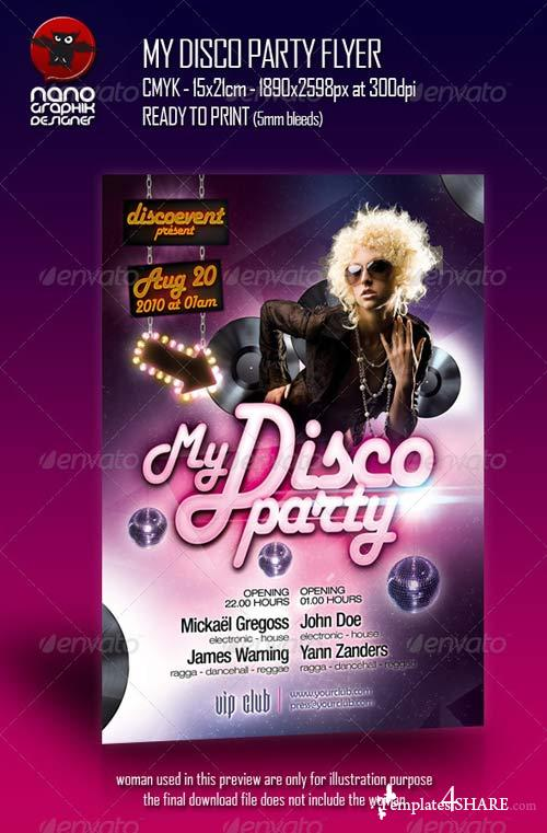 GraphicRiver My Disco Party Flyer