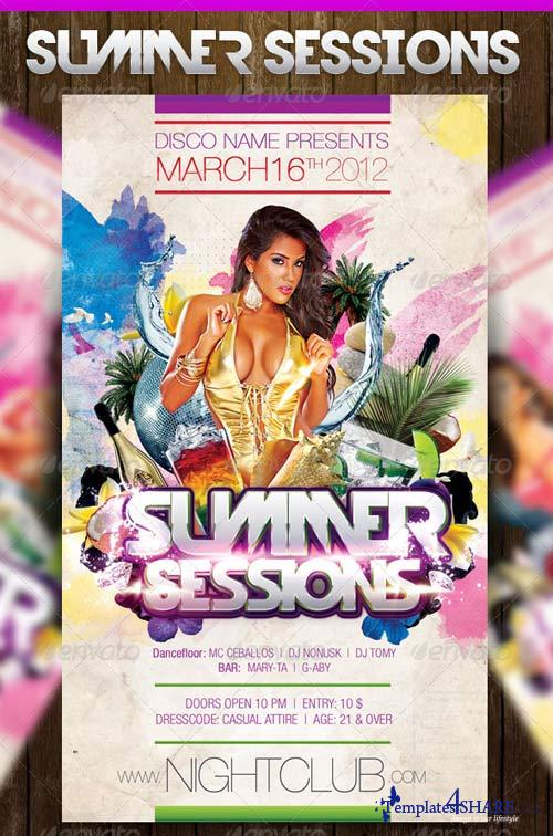 GraphicRiver Summer Sessions Party Flyer