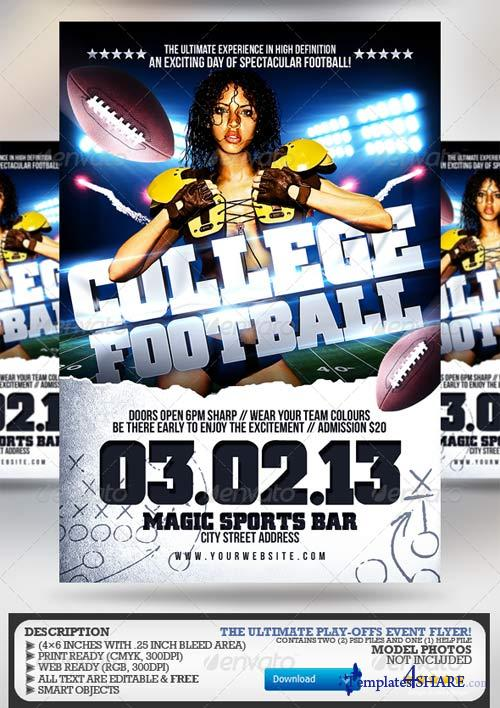 GraphicRiver Super Bowl/College Football Flyer