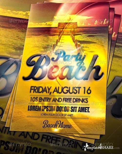 GraphicRiver Amazing Beach Party Flyer