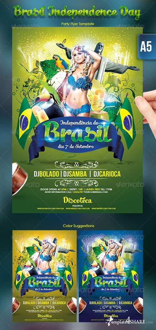 GraphicRiver Brasil Independence Day Flyer Template