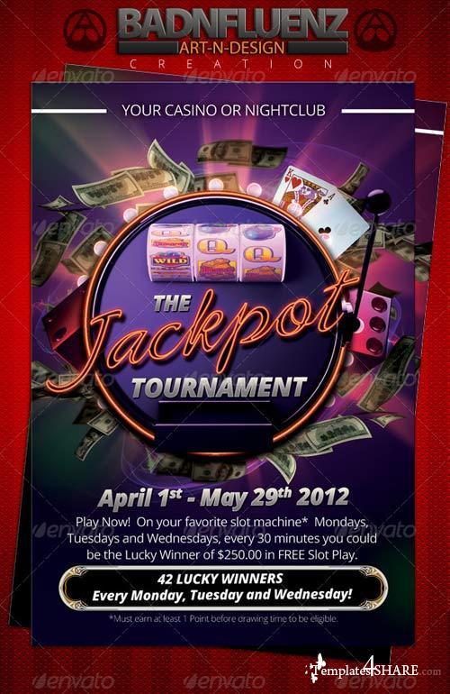 GraphicRiver Casino 4x6 Flyer