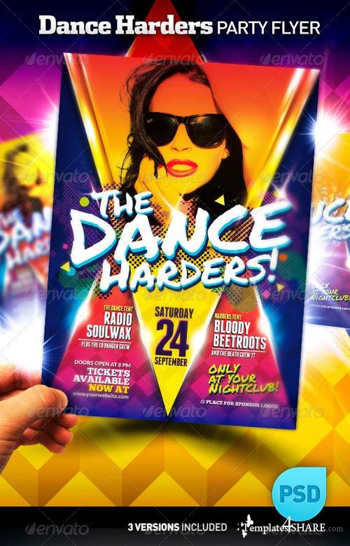 GraphicRiver Club Night Party Flyer Poster | The Dance Harders