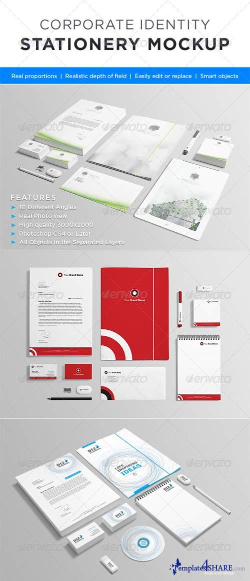 GraphicRiver Photorealistic Stationery Mock-up