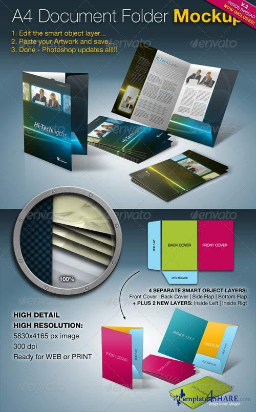 GraphicRiver A4 Document Folder Mock-Up