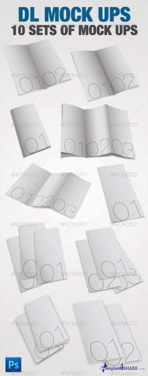 GraphicRiver 10 DL Leaflet Mock-ups - Photoshop