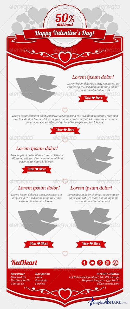 GraphicRiver Valentines Day - PSD Email Template