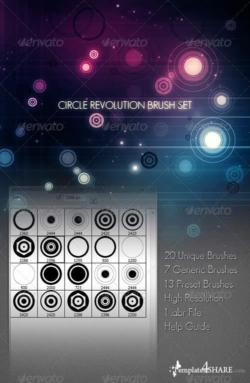 GraphicRiver Circle Revolution Brush Set