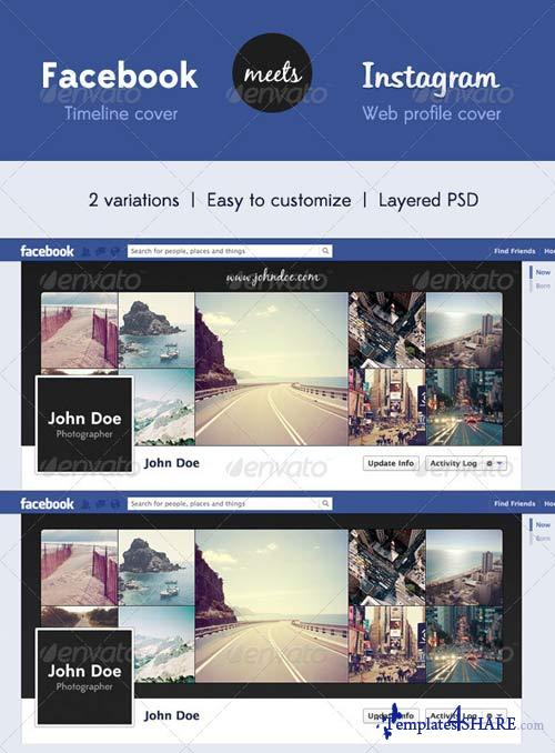GraphicRiver Fb Timeline Cover Meets Insta Profile