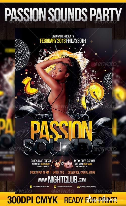 GraphicRiver Passion Sounds Party Flyer