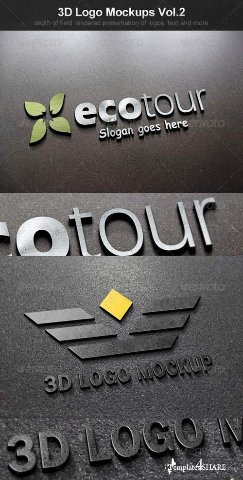 GraphicRiver 3D Logo Mockups Vol.2