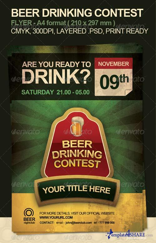 GraphicRiver Beer Drinking Contest Flyer