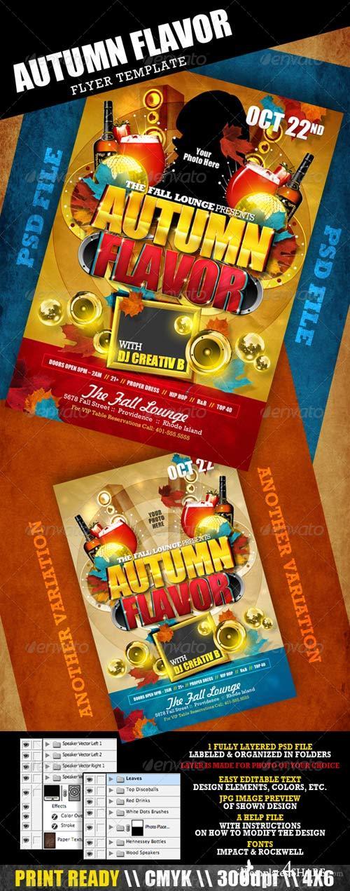 GraphicRiver Autumn Flavor Flyer Template