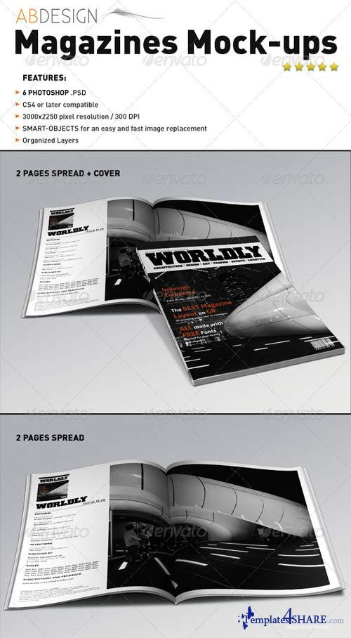 GraphicRiver Realistic Magazines Mock-ups Templates